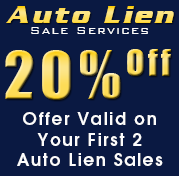 20% Off, Offer Valid on Your First 2 Auto Lien Sales